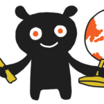 Illustration of figure with world and hammer